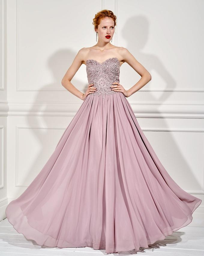 Βραδινό μακρύ στράπλες φόρεμα με κεντημένο μπούστο 993a6ebd7a7