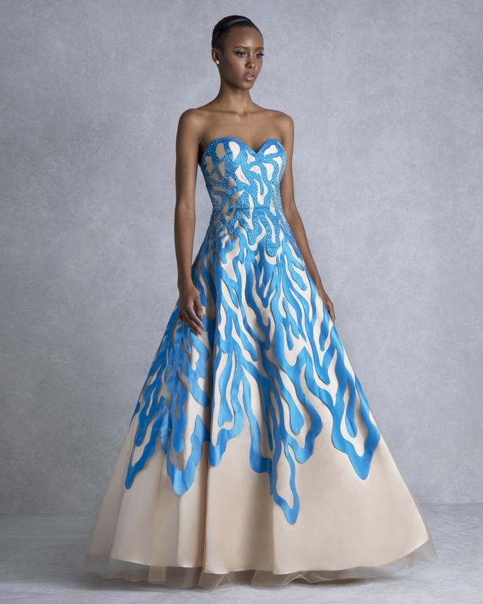 86880110f71d8 Long evening strapless dress