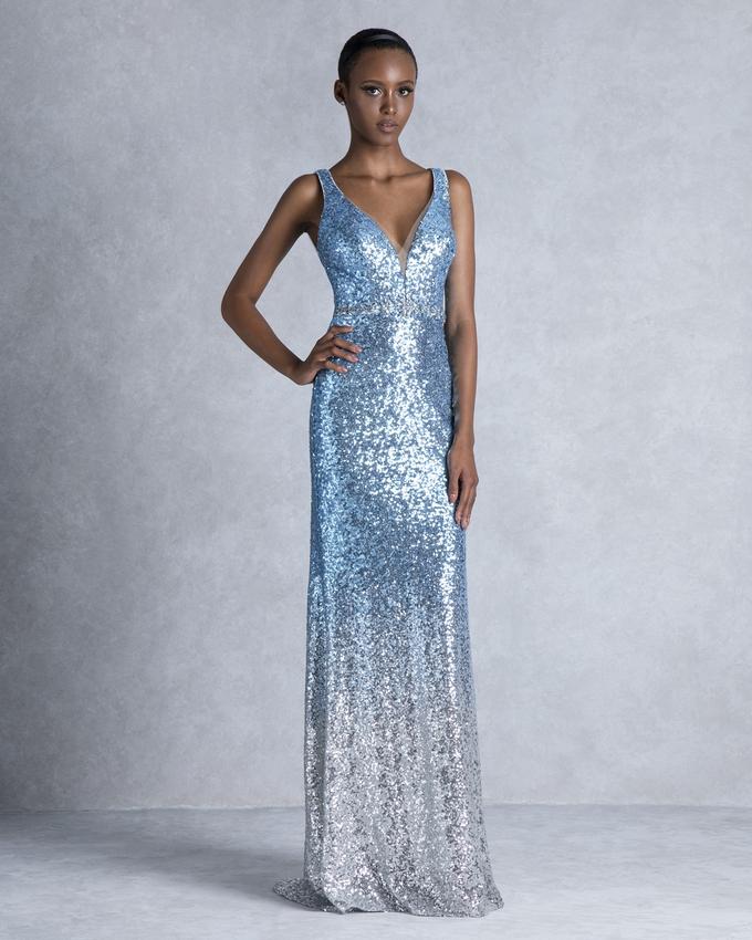 1132428ce769 Βραδινό φόρεμα μακρύ με παγιέτες και ανοιχτή πλάτη