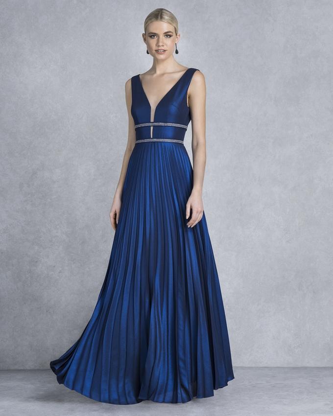 f271f435e44 Βραδινό μακρύ πλισέ φόρεμα