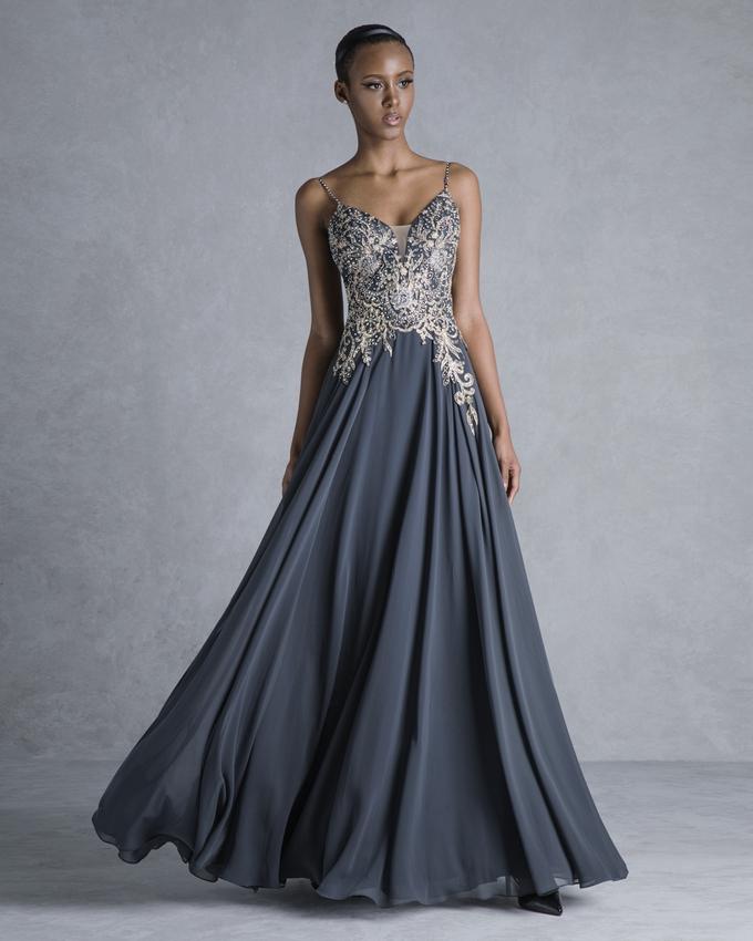 0c9f242c07 Βραδινό φόρεμα για γάμο με απλικαρισμένη δαντέλα στο μπούστο