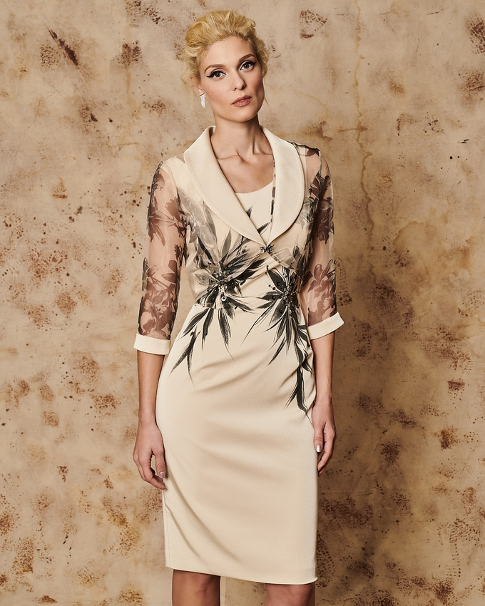 Mother of the bride dress with bolero