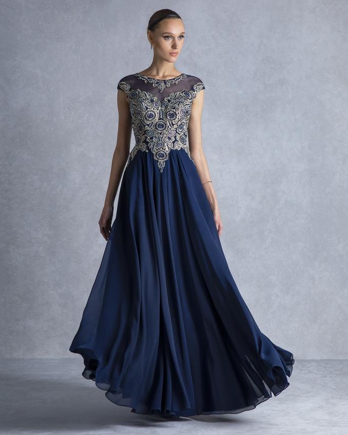 ed939f86e4f3 Βραδινό φόρεμα μακρύ με ολοκέντητο μπούστο