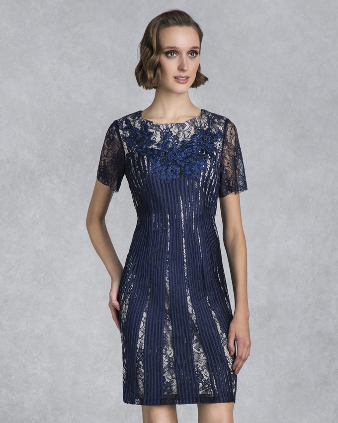 Short evening lace dress