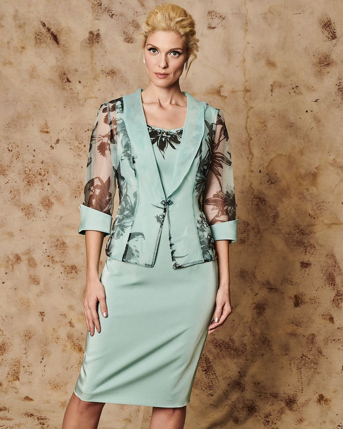 Mother of the bride dress with jacket