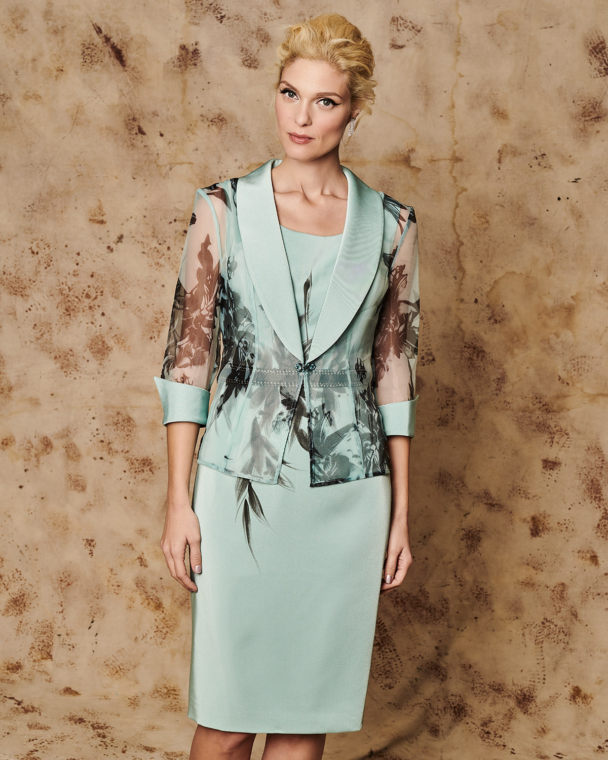 Classic Dresses / Mother of the bride dress with jacket