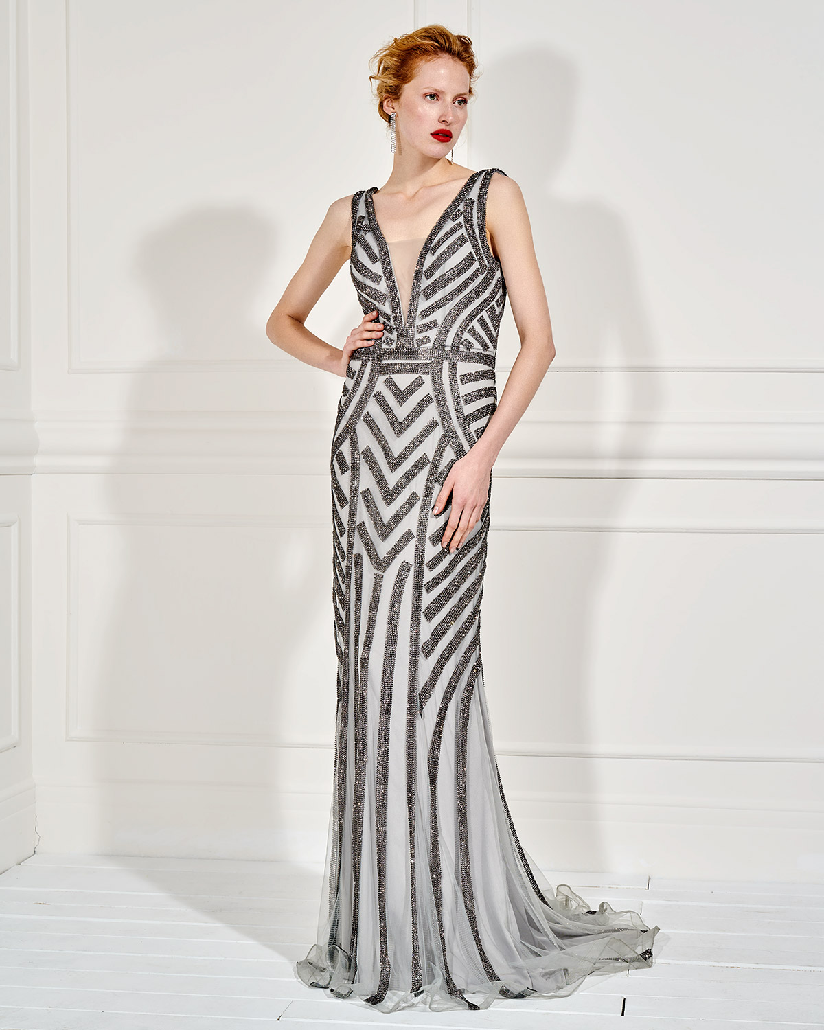 Evening Dresses / Long evening dress  fully beaded