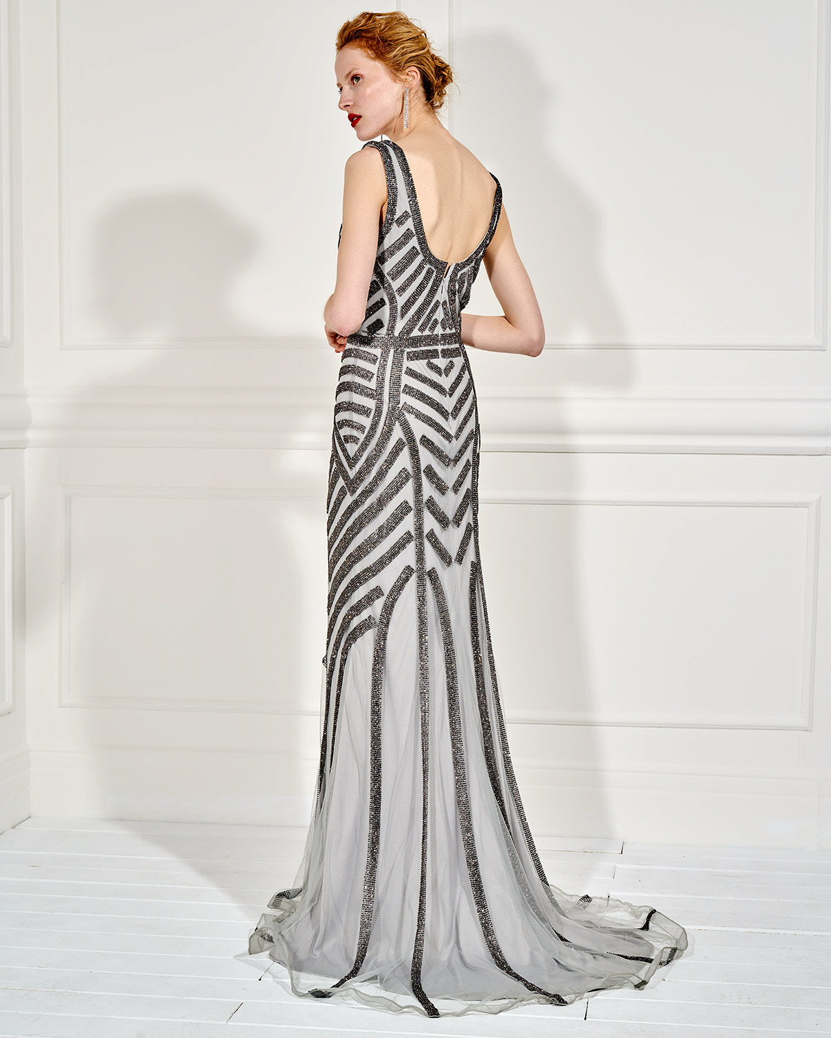 Long evening dress  fully beaded