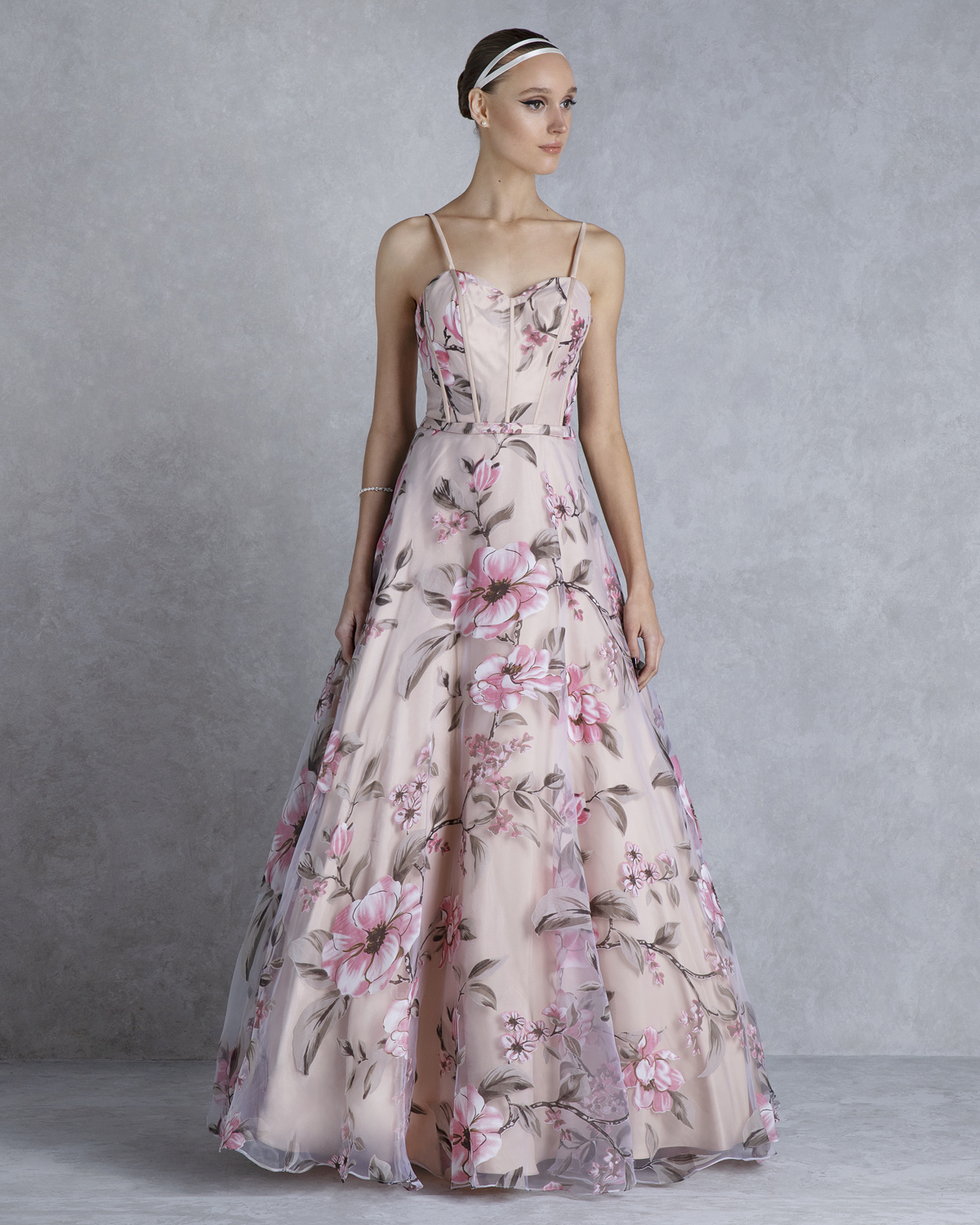 Cocktail Dresses / Cocktail strapless printed dress