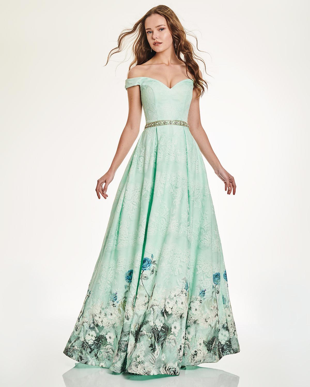 Κοκτέηλ Φορέματα   Κοκτέιλ μακρύ στράπλες φόρεμα με δαντέλα 5bd09f4a052