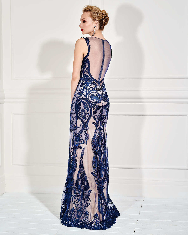96572fec7d4 Mikael - LOUISE - Βραδινό φόρεμα μακρύ δαντελένιο
