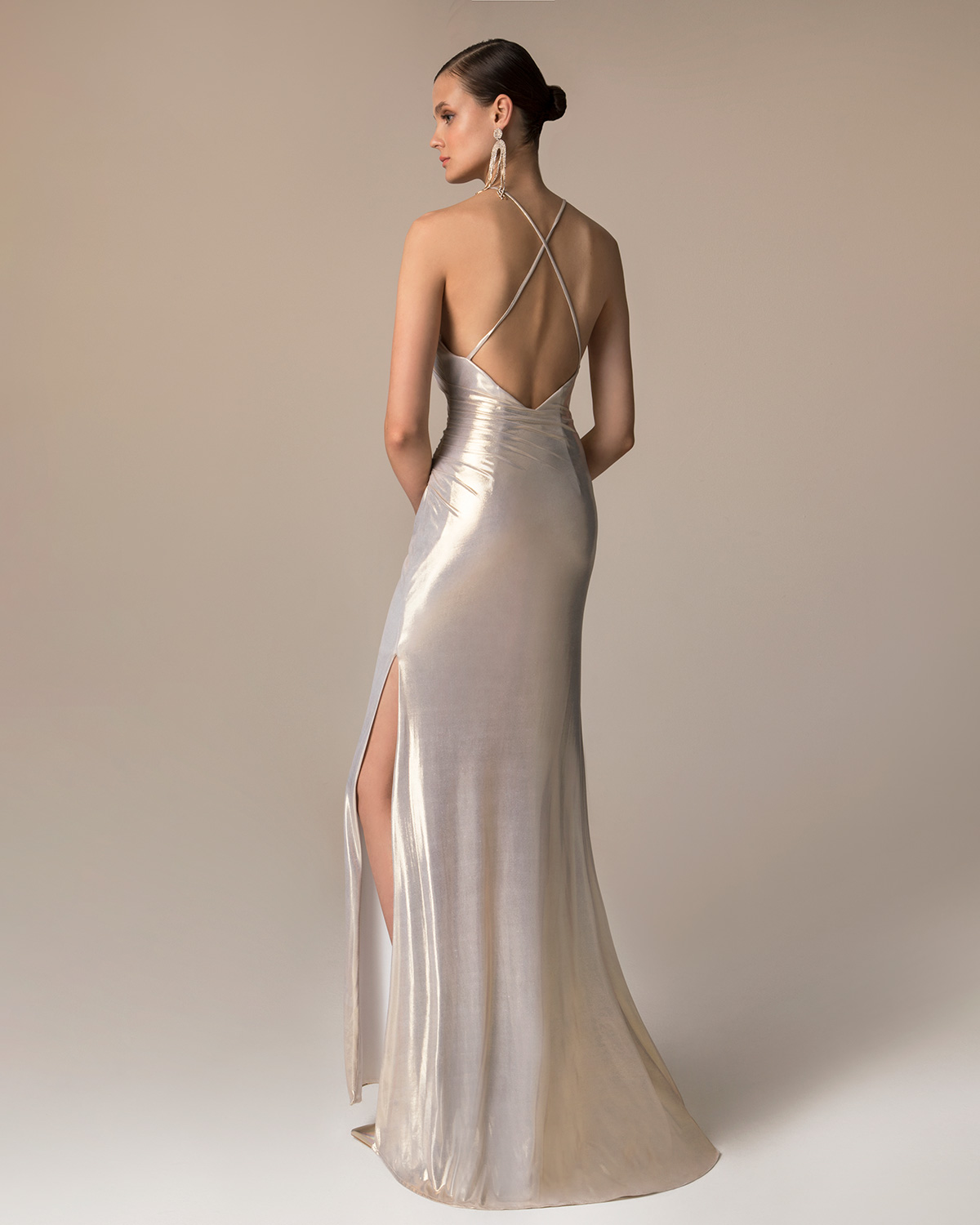 Evening Dresses / Long evening lurex dress