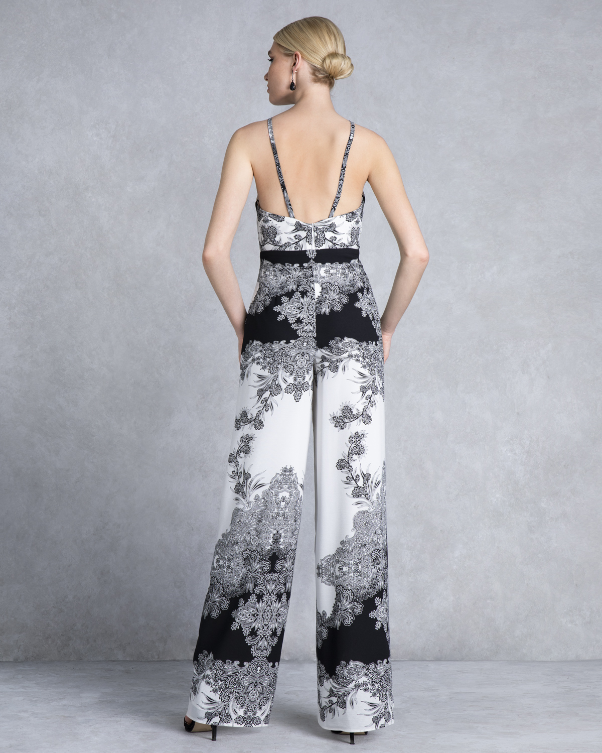 Cocktail printed jumpsuit