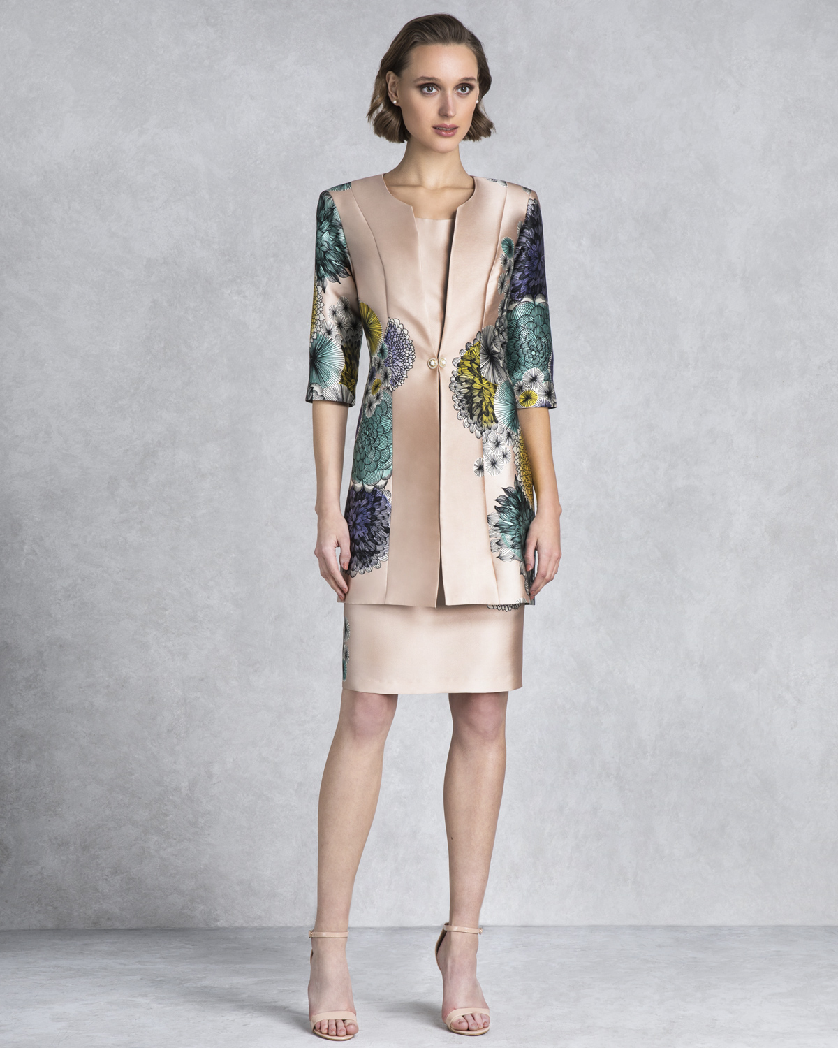 Classic Dresses / Mother of the bride short dress with bolero