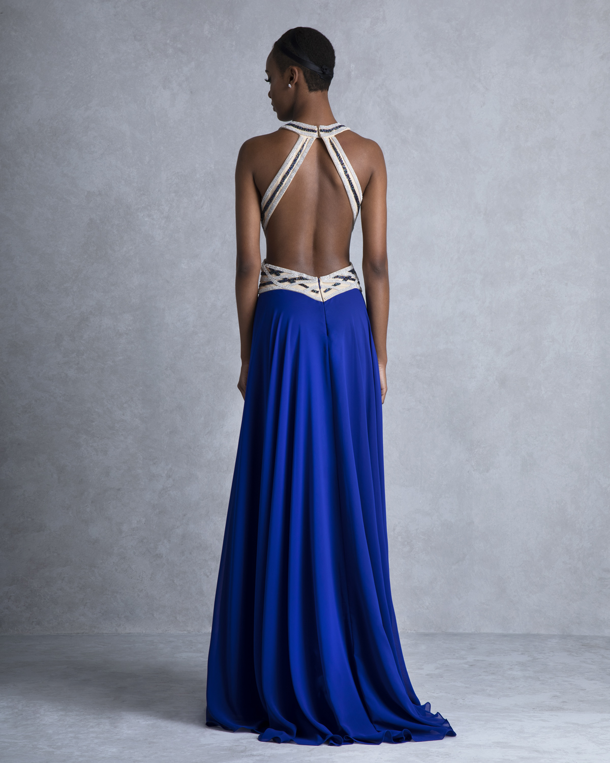 Evening Dresses / Long evening dress with beaded top